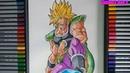 Vẽ BROLY super saiyan nhanh và đẹp DRAWING FULL POWER