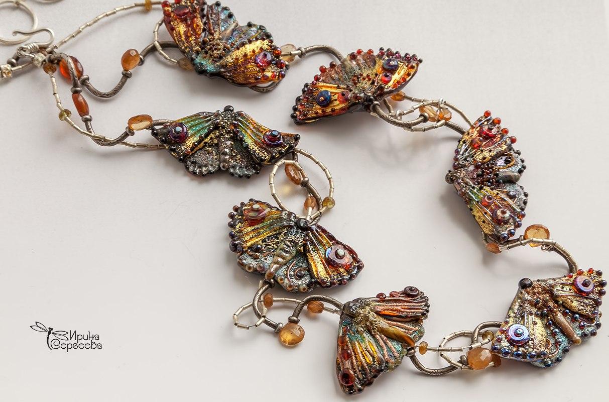 lampwork butterflies by Irina Sergeeva