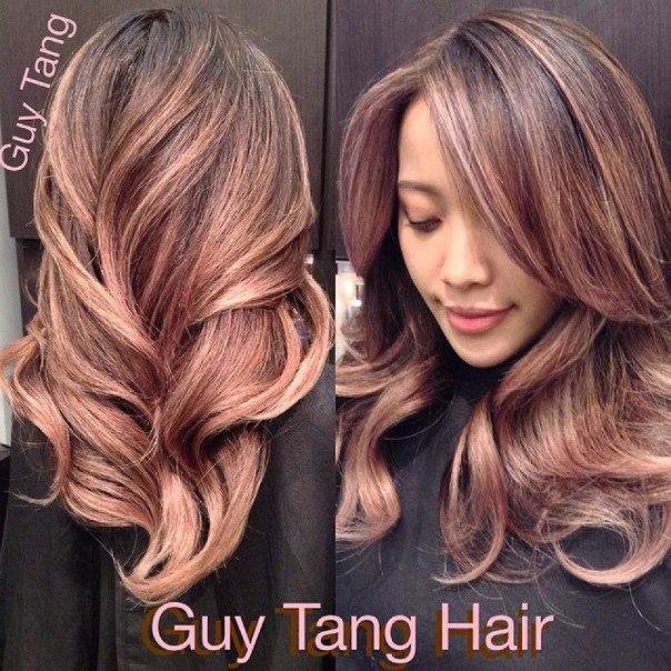 красивый цвет волос для азиаток фото