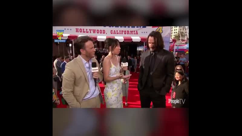 Keanu Reeves reaction to finding out hes the internets latest boyfriend.