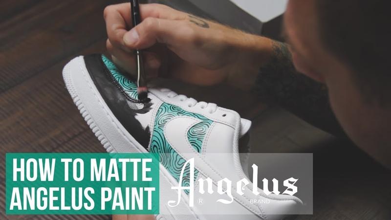 Custom Nike Air Force 1   How to Matte Angelus Paint