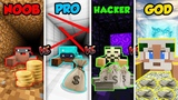 Minecraft NOOB vs PRO vs HACKER vs GOD BANK ROBBERY in Minecraft ! Animation