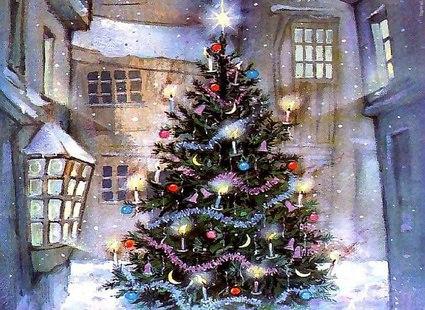 Святкова новорічна і різдвяна ялинка