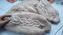 Укороченый джемпер спицами. Поперечное вязание. Часть 3. Обзор изделия, воротник.
