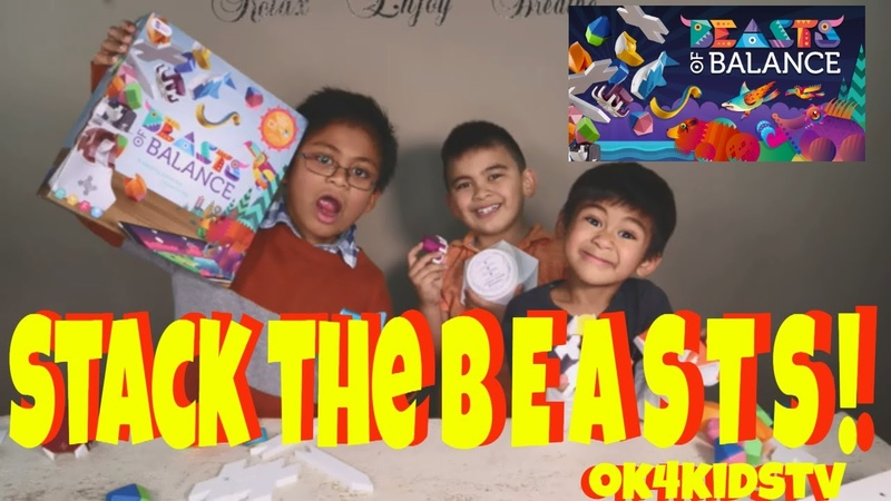 Beast of Balance Interactive Balancing Game Unboxing and Toy Review ok4kidstv video 233