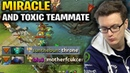 Miracle Gyro vs Necrophos - TOXIC Teammate say throne at 15 Minutes WTF?