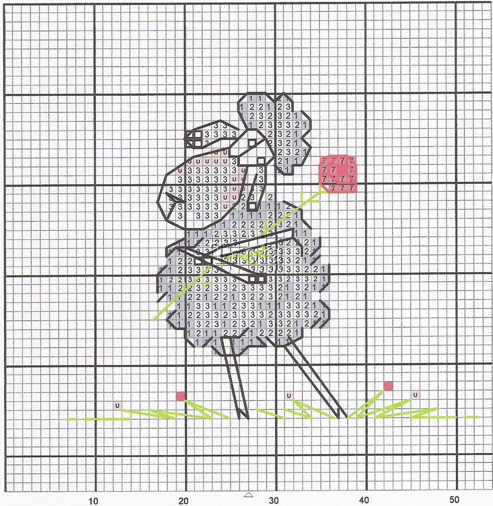 Схема вышивки крестиком барашек