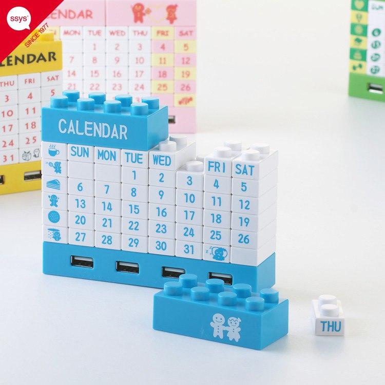 Вечный лего-календарь + USB хаб