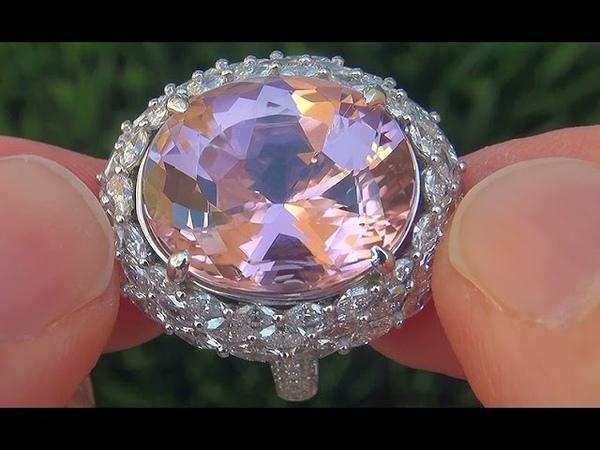 GIA Certified FLAWLESS Pink Tourmaline Diamond 14k White Gold Vintage Ring - A141466