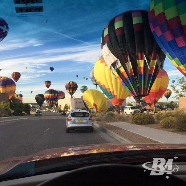 На фестивале воздушных шаров