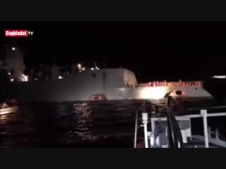 Появилось видео частично затонувшего норвежского фрегата