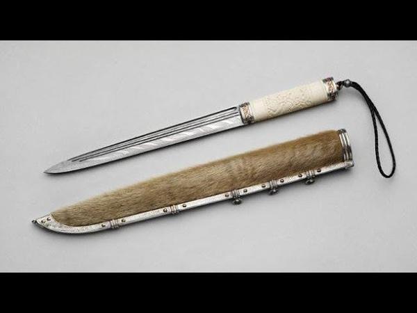 Как сделать длинный нож викинга из металлической пластины и традиционные ножны к нему