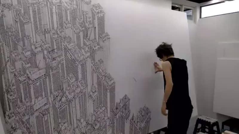 Daisuke Tajima drawing process