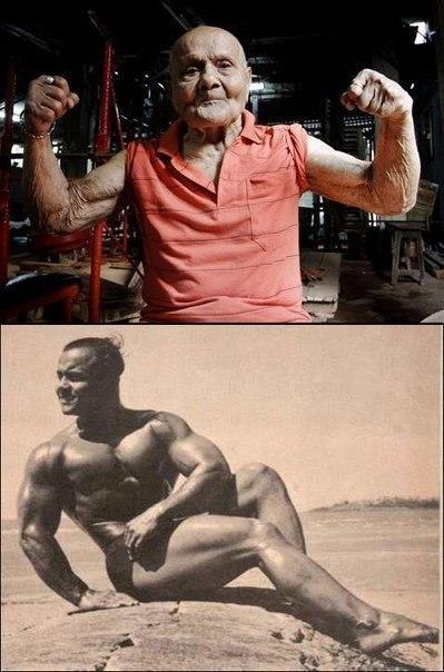 Это Manohar Aich. Мистер Вселенная 1952 года.