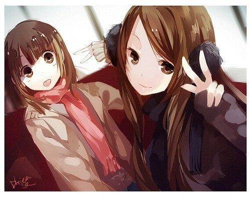 аниме лучшие подруги картинки