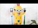 Автоматический дозатор для зубной пасты с держателем для щеток Миньоны