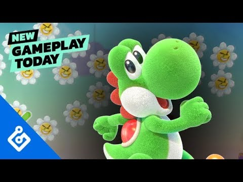 New Gameplay Today – Yoshis Crafted World
