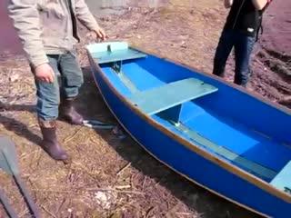 Разборная самодельная лодка. Homemade folding boat