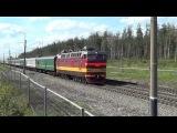 Тепловоз ЧМЭ3-5907, резервом; электровоз ЧС4т-677 с почтовым поездом.