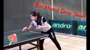 How to play backhand drop short--Yangyang's table tennis lessons