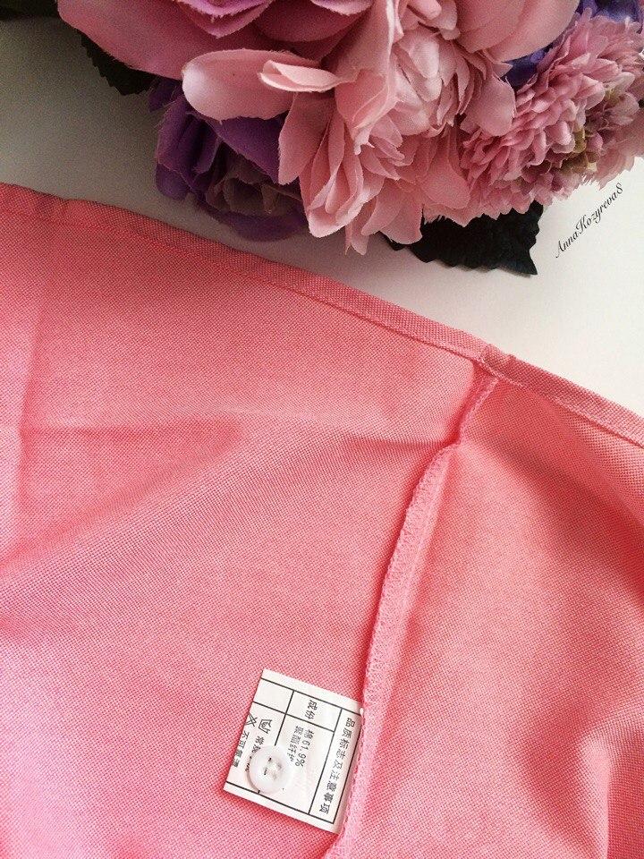 Хлопковая розовая рубашка из магазина brave chungs store