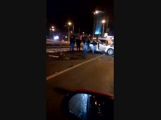 Ночное ДТП на Московском шоссе у метро Московское