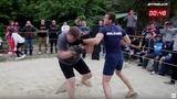 BABY BOY vs Fighter from the crowd !! 85 kg vs 115 kg