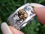 GIA Certified Collectors Grade Demantoid Garnet &amp Diamond Cocktail Ring Solid 18K Gold Must Be Sold