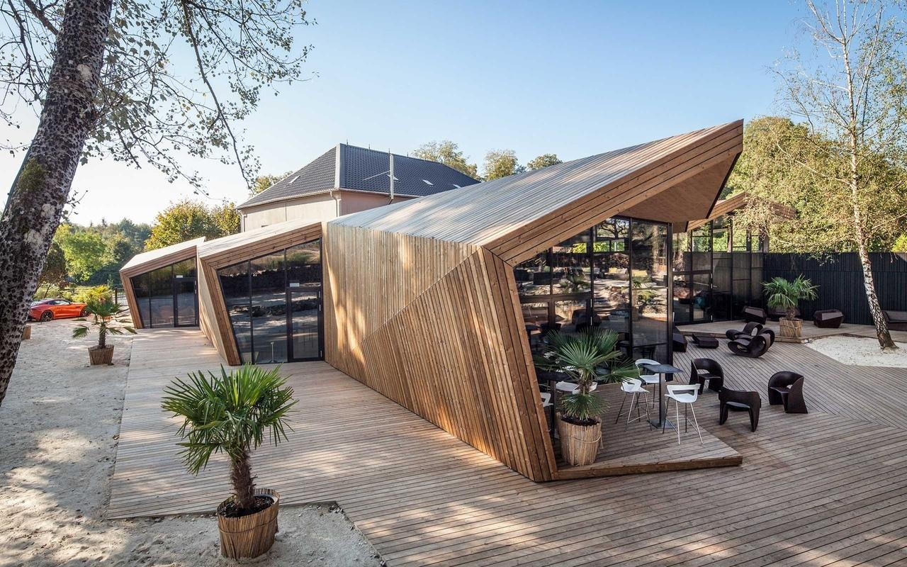 Origami Inspired BOOS Beach Club