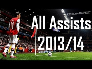 Mesut Ozil - All Assists - Arsenal | 2013/14 HD