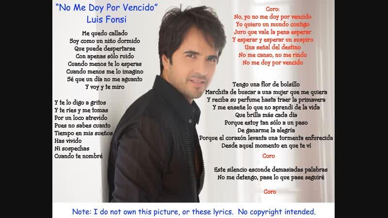 Luis Fonsi - No Me Doy Por Vencido (Official Music Video)