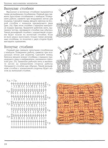 Узоры вязание спицами с накидом 3