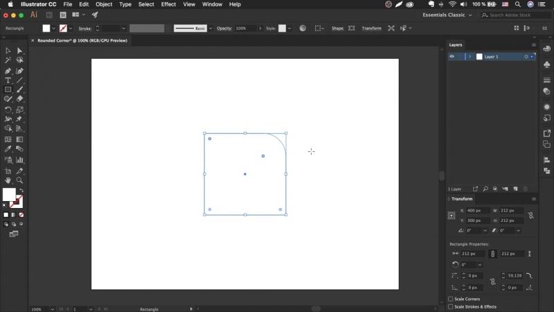 Как скруглить углы в иллюстраторе - Rounded Corner _ Урок Adobe Illustrator