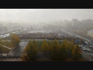 Первый снег в Перми 12 октября