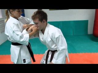DrobyshevskyKarateSystem:CHINTE-Bunkai-8-Chinte Kamae Qinna-Self Defense