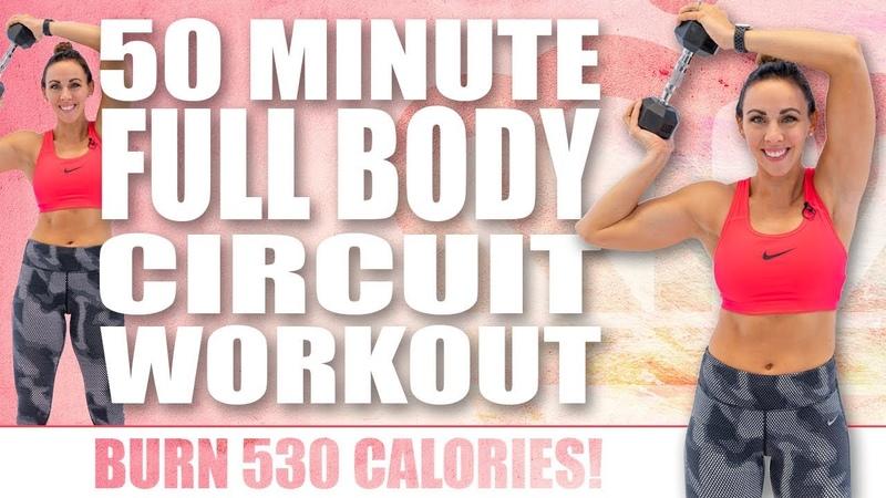 50 Minute FULL BODY CIRCUIT WORKOUT! 🔥Burn 530 Calories! 🔥Sydney Cummings