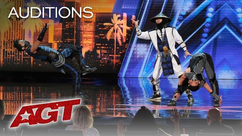 WOW! EPIC Dance Crew Delivers Mortal Kombat x Street Fighter Show - Americas Got Talent 2019