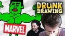 DRUNK DRAWING MARVEL