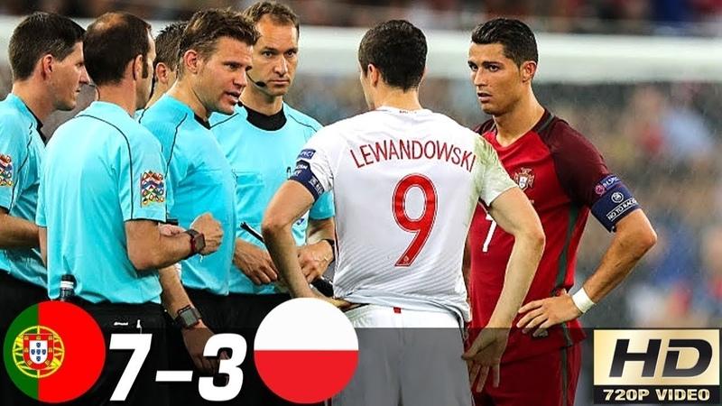 🔥 Португалия - Польша 7-3 - Обзор Контрольных Матчей 2007/2016 HD 🔥