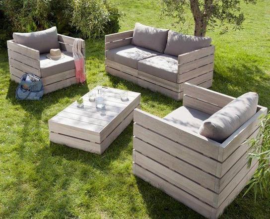 Мебель из поддонов для сада