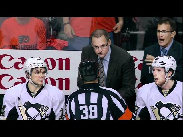 Arron Asham crosscheck on Schenn. Pittsburgh Penguins vs Philadelphia Flyers 4/15/12 NHL Hockey