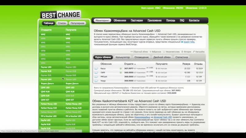 Пополнение Advanced Cash c помощью Приват24, Сбербанк, Казкоммерцбанк
