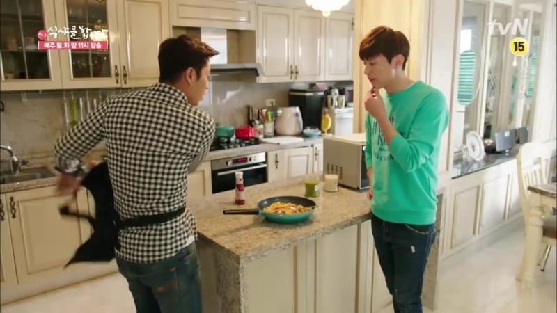 24 Lets Eat 2 Yoon Du-jun, Take care of the fridge! Lets Eat 2 Ep14_Yoon Du-jun