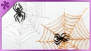 DIY Spider and web made from glue ENG Subtitles Speed up 270