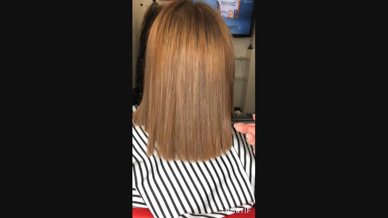 Нанопластика ❤️ Кто давно мечтает выйти из чёрного не повреждая волос смывками ⁉️ В результате получаете здоровый прямой волос