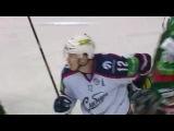 khl Ак Барс - Сибирь (2013.11) Сэйв. Эмиль Гарипов (Ак Барс) вступает в игру.
