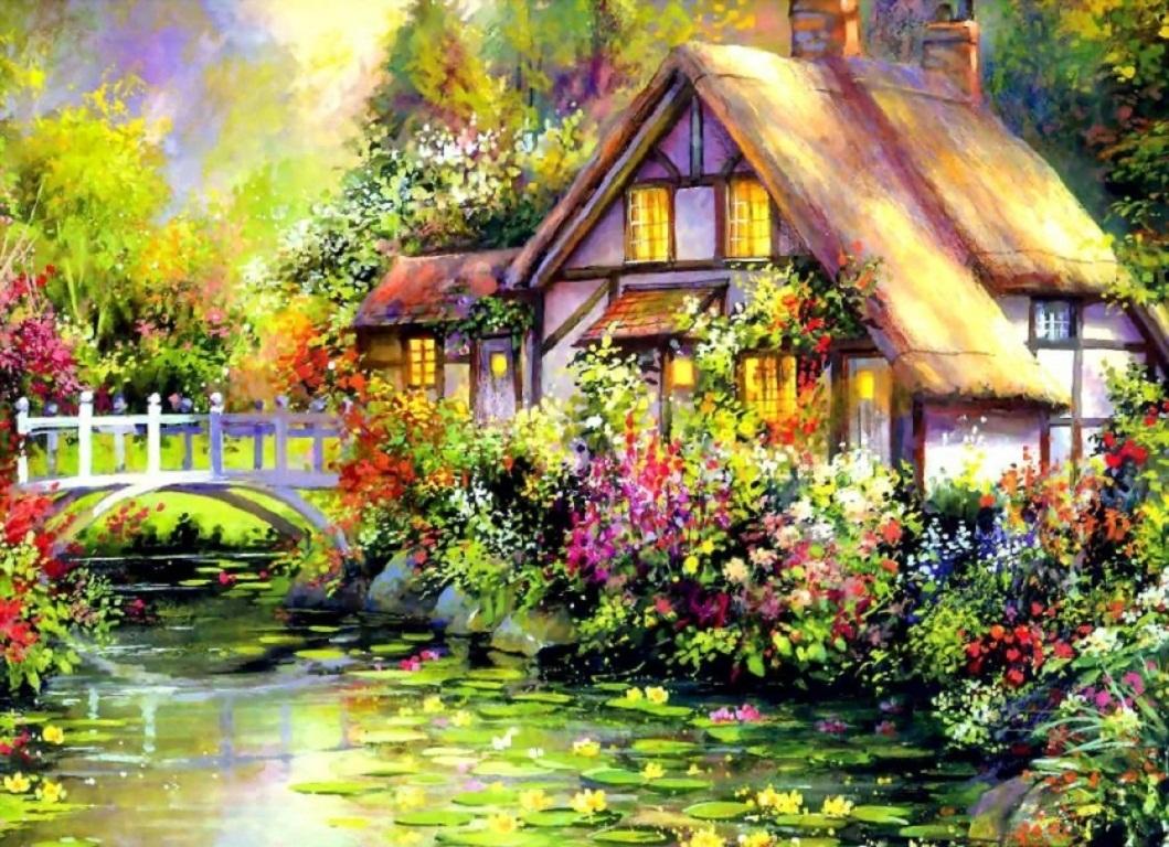 Картинки пейзаж и дома