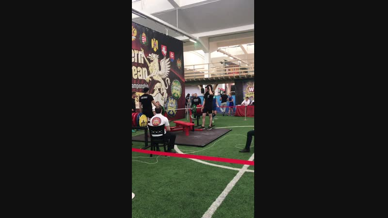 Bench Press European Powerlifting Champ