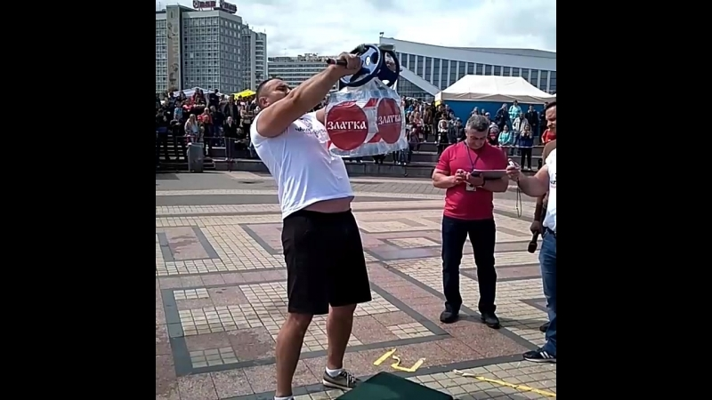 Руслан Багиров (Беларусь), удержание груза перед собой - 25   кг 💪 Minsk Strong Battle - 2018 💪🇧🇾