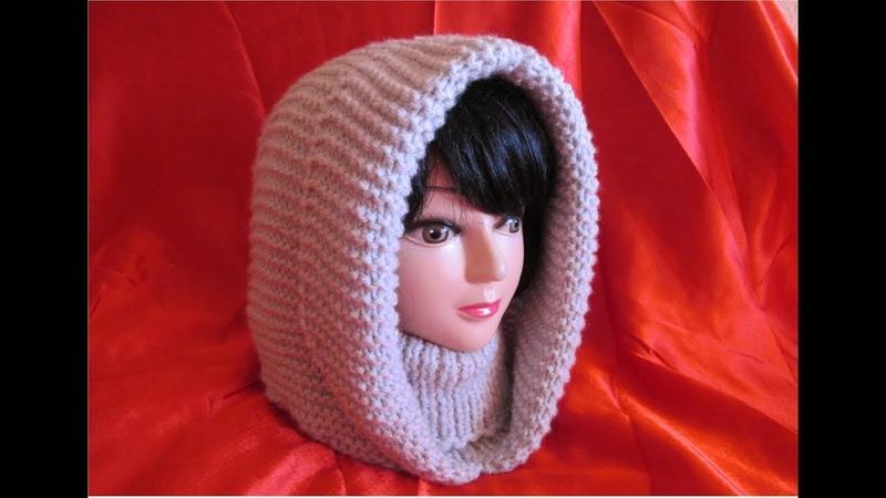 PREZENTARE - Glugă de damă, tricotată foarte usor si rapid